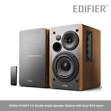 Edifier R1280T 2.0 Studio Audio Speaker System with Dual RCA Input 42W MDF Wood