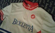 MAGLIA SHIRT VINTAGE CICLISMO CYCLING LA BICICLETTA CASTELLI ANNI 80