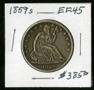 US Coin 1859 S Seated Liberty Silver Half Dollar NO RESERVE!