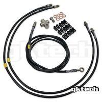 GKTECH Z33 350z/Z34 370z/V35/V36 stand-alone SS braided hydro handbrake line kit