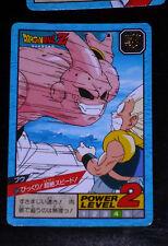 DRAGON BALL Z GT DBZ SUPER BATTLE POWER LEVEL CARDDASS CARD CARTE 604 JAPAN NEUF