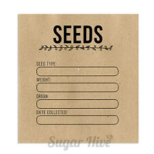 25 x Seed Packets Envelopes Bags Recycled Seed Garden Vegetable Flower Storage