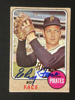 Roy Face Pirates Signed 1968 Topps Baseball Card #198 Auto Autograph 2