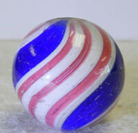 #12385m Large German Handmade Peppermint Swirl Marble .84 Inches