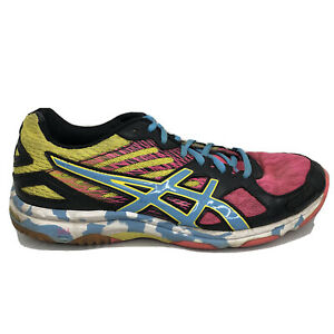 Asics Gel Flashpoint 2 Volleyball Shoes Womens Size 9 Pink Blue Sneakers B456N