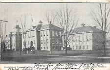 D68/ Youngsville Pennsylvania Pa Postcard 1907 Public Schools 4 Students 4