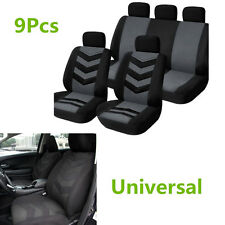 9Pcs Universal Sports Breathable And Cool Car Seat Cover Full Seat Mat Protector