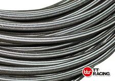 """3/8"""" (8.3mm) Stainless Steel Braided Hose (AN-6) Fuel Oil Water  20ft 6m 6 metre"""