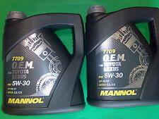8L MANNOL Toyota Lexus OEM O.E.M.5W-30 API SN/CF Motoröl 5W30 ACEA A5/B5 A3/B4
