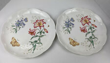 2 Lenox Butterfly Meadow Fritillary Dinner Plate 11 Inches