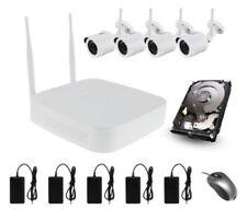 4CH 1080P HD Wi-Fi 4x Kit de CCTV cámaras inalámbricas 1TB NVR al aire libre de visualización móvil