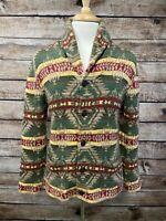 Ralph Lauren Denim Supply Heavy Shawl Cardigan Sweater Size M Aztec Serape
