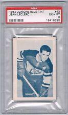 1952-53 Juniors Blue Tint Hockey Card Three-Rivers Reds J. Leclerc Graded PSA 6