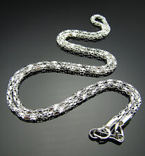 """Free top 20PC Jewelry findings Silver plated snake chain Necklace With Clasp 21"""""""