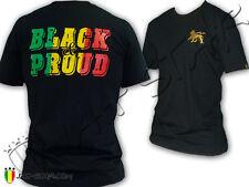 T-Shirt Rasta Black & Proud Rastafarian Lion of Judah
