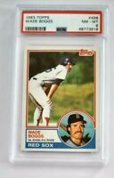 Wade Boggs 1983 Topps RC #498 PSA 8 NM-MT Boston Red Sox Rookie Graded