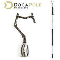 DOCAZOO DocaPole 6-24ft (2-7m) Pole Hook Extension Pole- Hook for Hanging lights