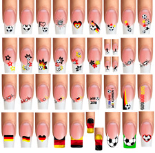 Wraps Nail Tattoo FUSSBALL FOOTBALL SOCCER Deutschland Germany WM EM Mix-Paket