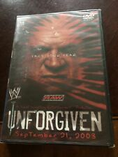Wwe - Unforgiven 2003 (Dvd, 2003) Brand New *Rare*