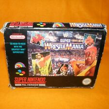 VINTAGE SUPER NINTENDO ENTERTAINMENT SYSTEM SNES WWF SUPER WRESTLEMANIA GAME