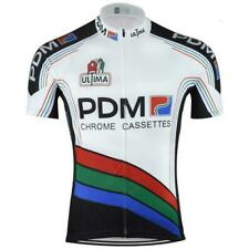Retro Team  PDM Ultima Chrome Cassettes Jersey Cycling Jersey Short Sleeve