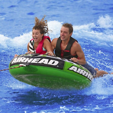Towable Ski Tube raft float boat lake boating tow beach 2 person water boat tow