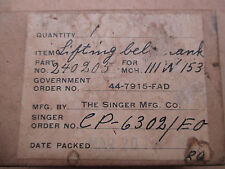 ** SINGER SEWING MACHINE PARTS 111W LIFTING BELL CRANK #240205