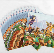 (20)pcs Roblox Napkins Video Game Double Sided Balloons Birthday Party Supplies