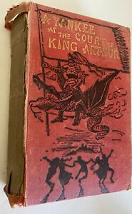 A Yankee at the Court of King Arthur by Mark Twain old vintage book worn 1889