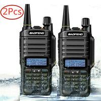 2pcs UV-9R Plus Baofeng VHF UHF Walkie Talkie Dual Band Handheld Two Ways Radio