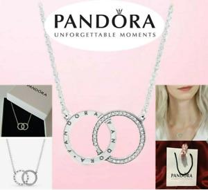 Pandora Genuine Sterling Silver 45CM Entwuned Circles Logo Necklace 396235CZ