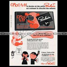 POULAIN CHOCOLAT 'Croc My' 1966 (Tablette) - Pub / Publicité / Advert Ad #A674