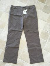 WOMENS, NOUGAT LONDON, COTTON/LINEN PANTS, SIZE US4 AU 12-14 STRAIGHT, BROWN NWT