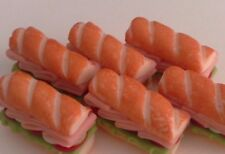 6 Pcs Dollhouse Miniatures Food & Groceries Supply Handcrafted Subway Sandwich