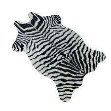 Zebra/Cow Goat Printed Carpet Velvet Imitation Leather Rugs Cowhide Animal Skins