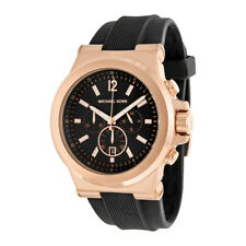 Michael Kors MK8184 Dylan Rose-tone Chronograph Silicone Mens Watch