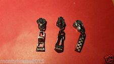 New!3xAUTOLOCK ZIPS ZIPPERS SLIDER Ends FOR THE VISLON or BRASS No5 Zip 3 STYLES