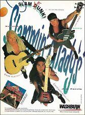 Slammin' Gladys Washburn EA36 Acoustic B200 Bass LS93 Guitar 8 x 11 ad print