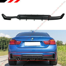 For 14-19 BMW F32 F33 F36 4 Series M Sport Rear Bumper Diffuser One Twin Exhaust