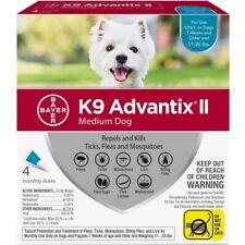 Bayer K9 Advantix II Flea And Tick Control Treatment Medium Dogs 11-20 lb 4 pack