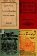 215 RARE BOOKS ON SECRET RECIPE, FORMULAS, 1000s VINTAGE HOUSEHOLD TIPS ON DVD