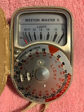 Vtg Weston Master V Universal Exposure Meter  Model 748, Great Britain