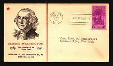 US SC# 854 FDC / George Washington Cachet - L138