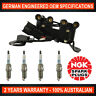 4x Genuine NGK Spark Plugs & Ignition Coil Pack for Hyundai Excel S-Coupe