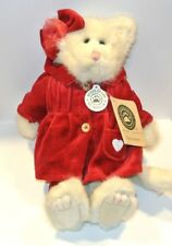 "Boyds Bears Felicia Fuzzbuns Kitten Cat #912090 12"" Stuffed red outfit"