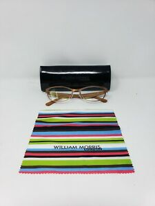 William Morris London Women Glasses Copper Brown Sz M w/Microfiber Cloth 52x16