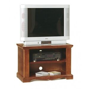 Port TV Structure IN Solid Wood, Finished Dye Walnut
