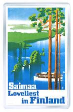 SAIMAA FINLAND VINTAGE REPRO FRIDGE MAGNET SOUVENIR IMAN NEVERA
