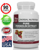 Forskolin Extract Diet & Weight Loss | 90 Caps | 250mg At 20%  **BEST VALUE**