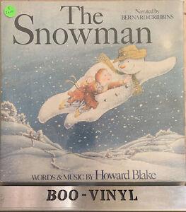THE SNOWMAN ORIGINAL G/F VINYL LP RECORD - BERNARD CRIBBINS + POSTER - EX